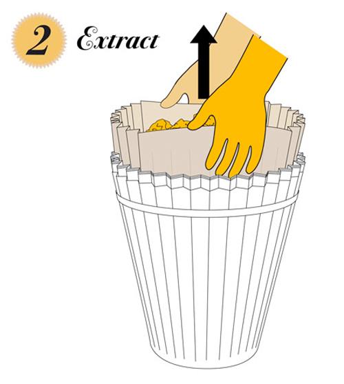 Как сделать мусор из бумаг