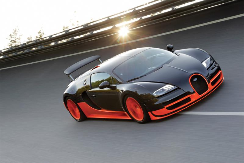 Bugatti Veyron Again Planetu0027s Fastest Car. On July 4, 2010, A Black And  Orange Veyron 16.4 Super Sport Hit 267.81 Mph. The Previous Record Was 256  Mph Set ...