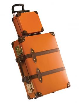 Globe-trotter luggage.