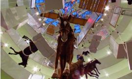 Maurizio cattelan installation all. Guggenheim.