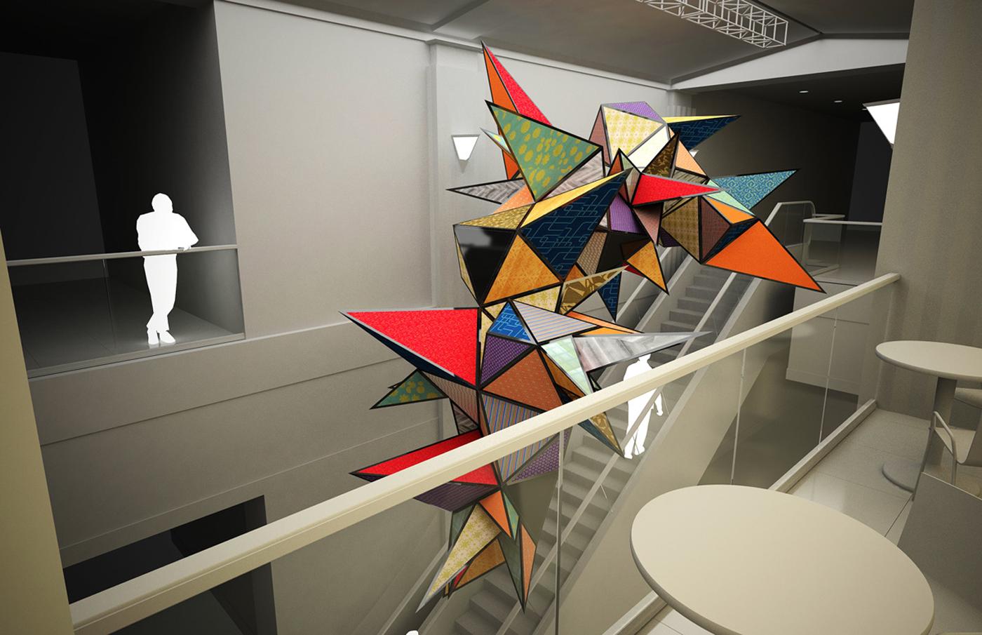 First major art installation for Neocon 2012  – DesignApplause
