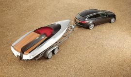 Concept speedboat and xf sportbrake by jaguar.
