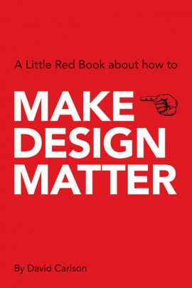 Make design matter. A new book.