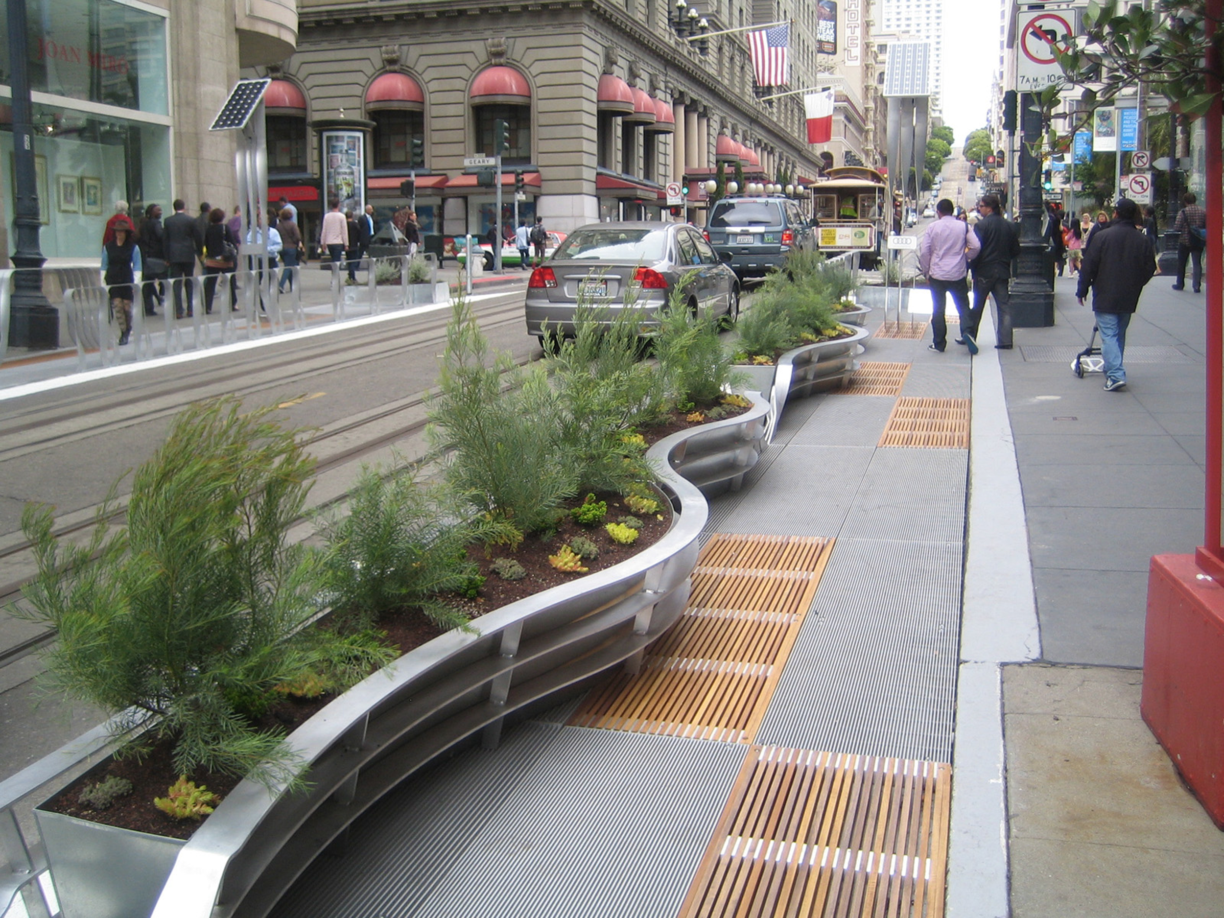Designapplause a nod to the parklet for Furniture zone sidewalk