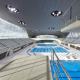 London aquatics centre opens to public. Zaha hadid architects.