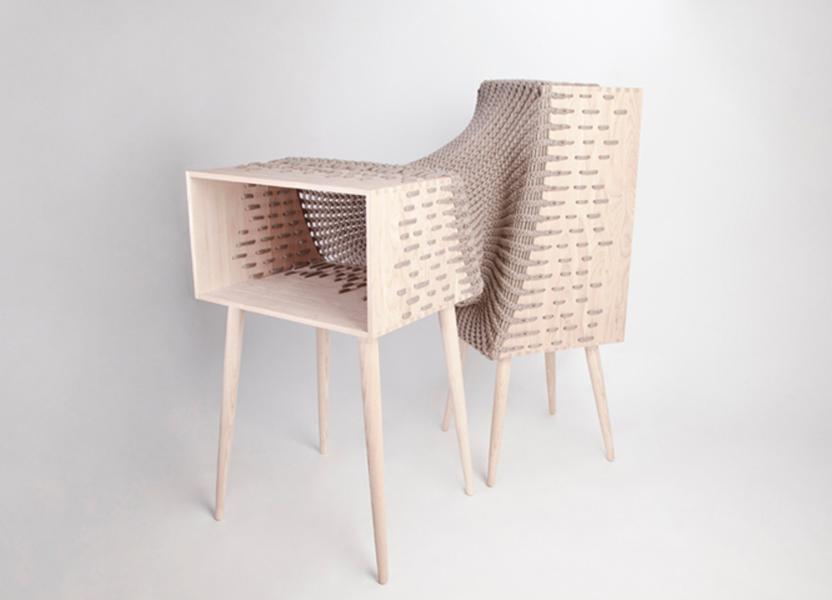 hybrid furniture from textile designer kata monus.