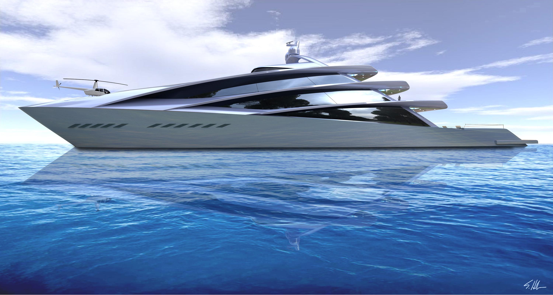 70M spira. a scott henderson yacht concept.