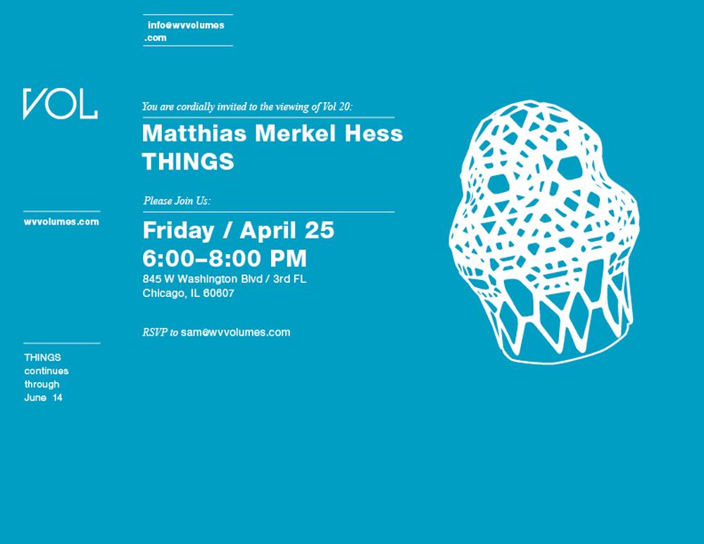 volume 20. things-matthias merkel hess. volume gallery.