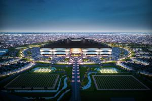 Quatar's al bayt stadium showcases tent-like design