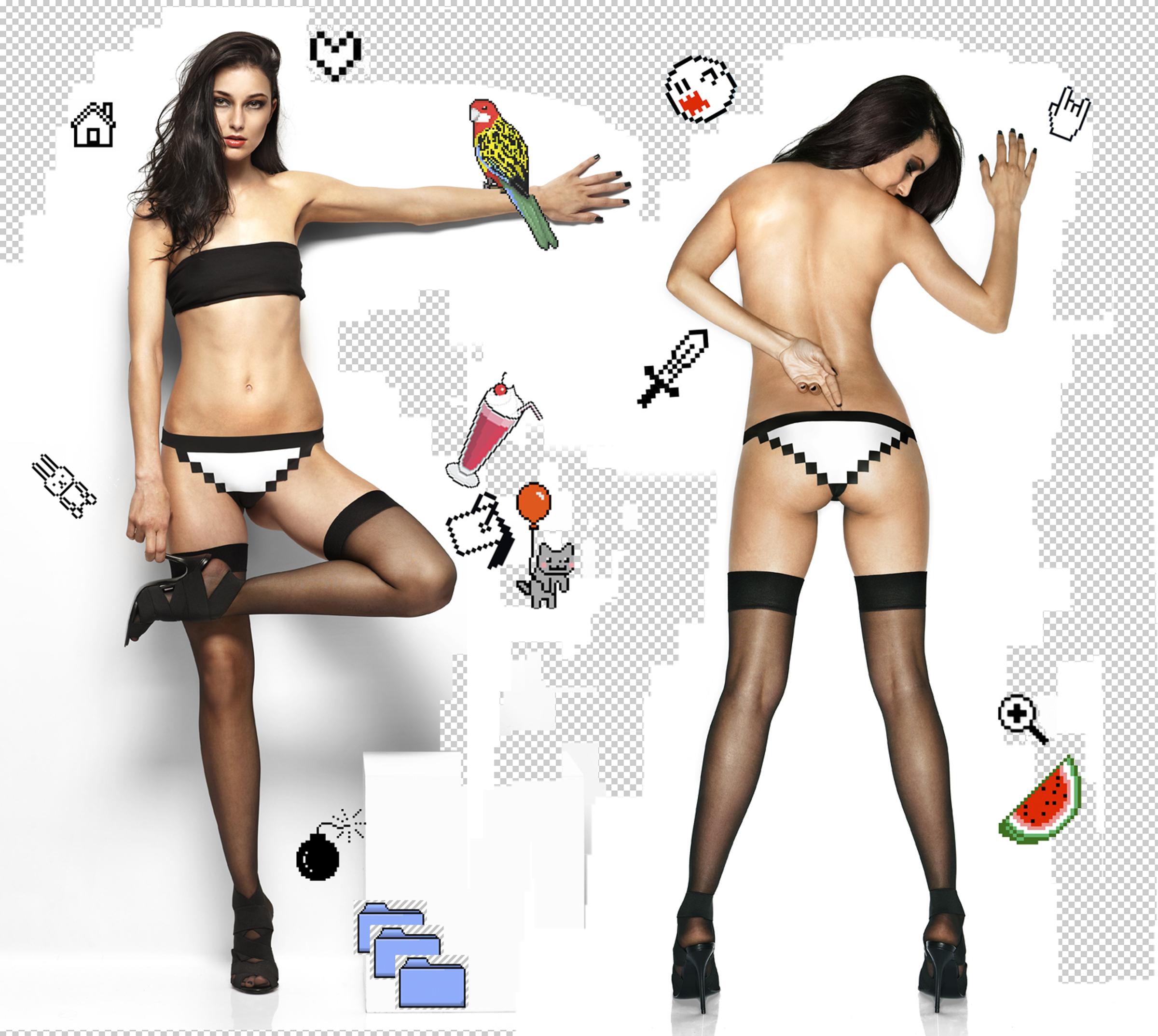 pixel panties. world's first 8-bit underwear.