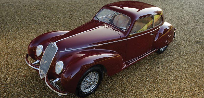mussolini's mistress's alfa romeo 6c sport berlinetta up for auction.