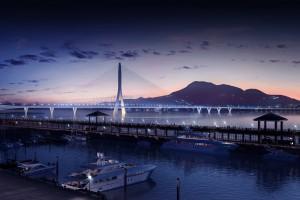 danjiang bridge – asymmetrical bridge for taipei by zaha hadid architects.