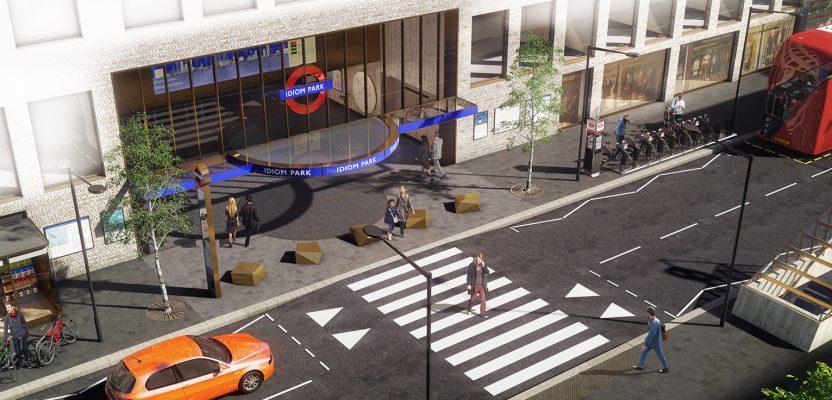 london underground station design provides a glimpse of the future. studio egret west.