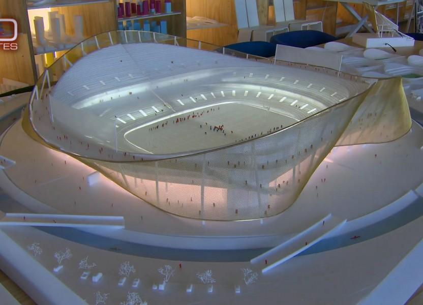 bjarke ingels envisions new washington redskins sports stadium.
