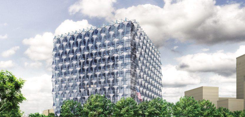 new us embassy unveiled in london. architects kieran timberlake.